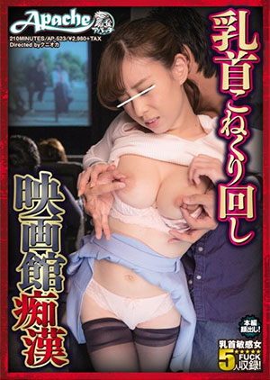「乳首こねくり回し映画館痴漢」のパッケージ