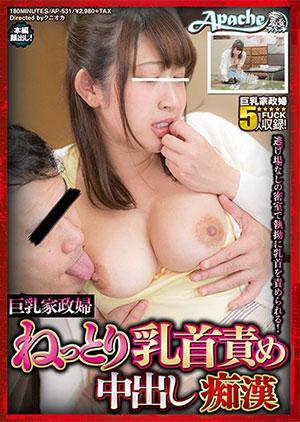 「巨乳家政婦 ねっとり乳首責め中出し痴漢」のパッケージ