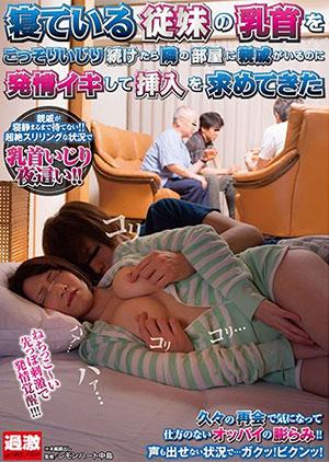 「寝ている従妹の乳首をこっそりいじり続けたら隣の部屋に親戚がいるのに発情イキして挿入を求めてきた」のパッケージ