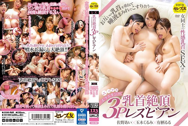 「乳首絶頂3Pレズビアン 玉木くるみ 有栖るる 佐野あい」のパッケージ